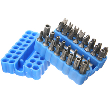 33pcs/set High Quality Security Bit Set Tamper Proof Torx Spanner Screwdriver Star Hex Holder Alloy Drill Screw Driver Bits