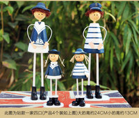 Two styles of wooden doll hanging ornaments Home Furnishing Decor Navy Mediterranean wedding gift birthday gift