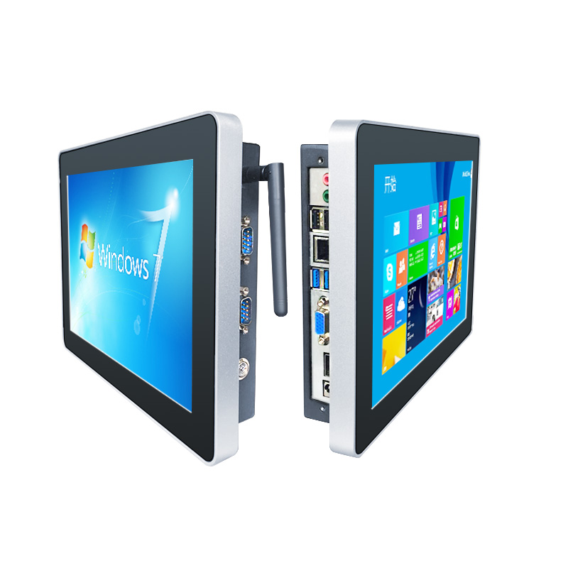 17 Inch fanless Industrial Panel pc with Resistance / Capacitive