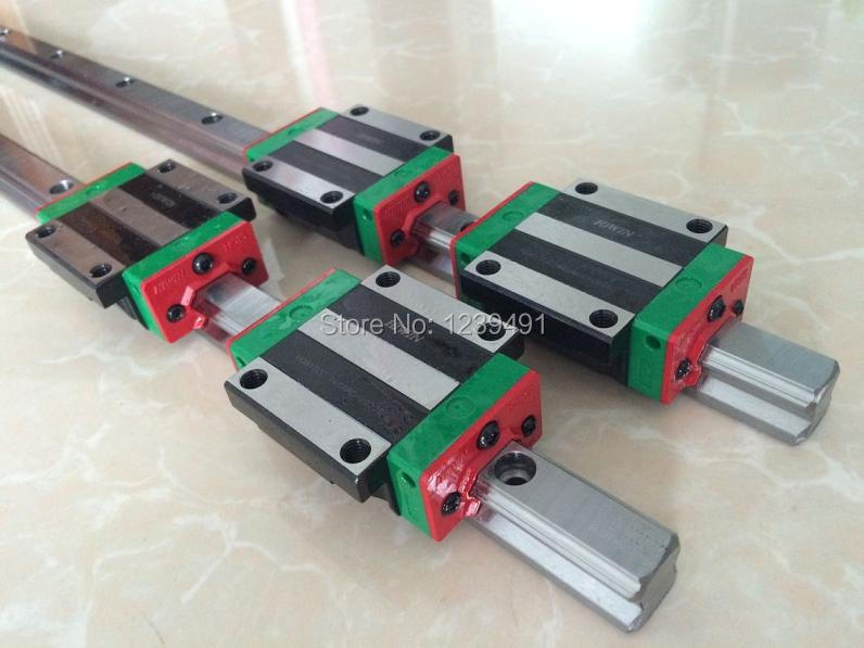 2pcs original  HIWIN linear rail HGR30- 650mm  with 2pcs HGW30CA flange carriage cnc parts 2pcs original hiwin linear rail hgr30 300mm with 4pcs hgw30ca flange carriage cnc parts
