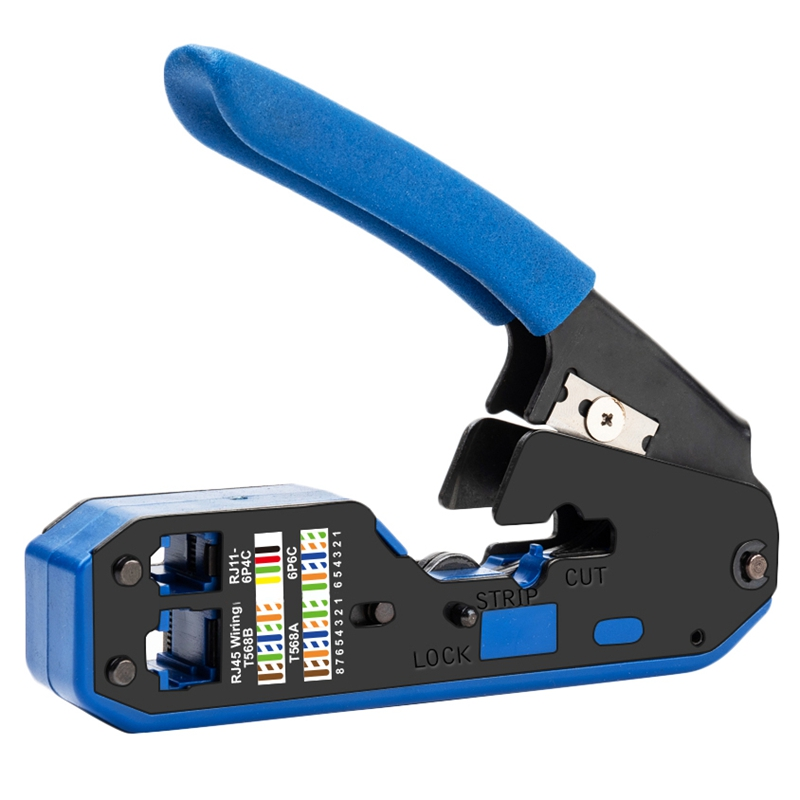 Rj45 ferramenta rede crimper cabo descascamento alicate stripper para rj45 cat6 cat5e cat5 rj11 rj12 conector
