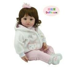 """22 """"vinil adora Gerçekçi seksi toddler Bebek Bonecas kız bebek evi bebe reborn menina de silikon noel oyuncaklar çocuklar için"""