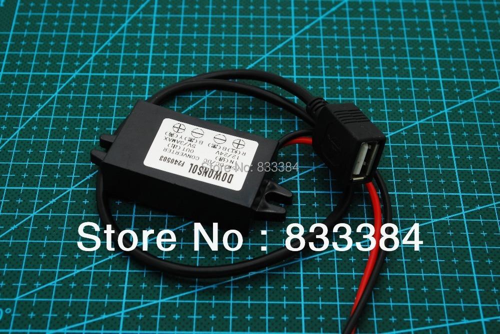Waterproof Female USB Interface 12V to 5V DC Converter Regulator 15W 3A