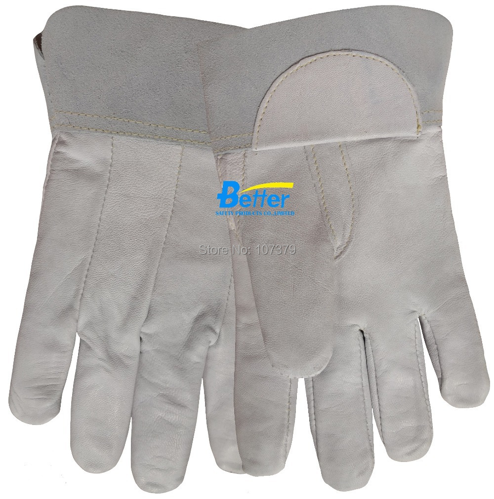 Goat leather work gloves - Leather Work Gloves Deluxe Tig Mig Welding Glove Excellent Comfoflex Tig Mig Grain Goatskin Leather Welding Work Glove