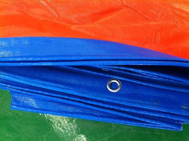 Personalizar 3 m X 4 m azul y naranja al aire libre cubierta de tela, lonas, lluvia lienzo, lona de camión, dom tela