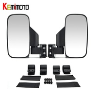 KEMiMOTO 2 1 75 Break Away Side Mirrors Shock Proof Rubber Pad Rear View Mirror For