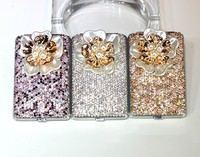Flower women cigarette case with crystal (hold 14 pcs) Slim cigarette box holder Cigarette box holder Smoking box