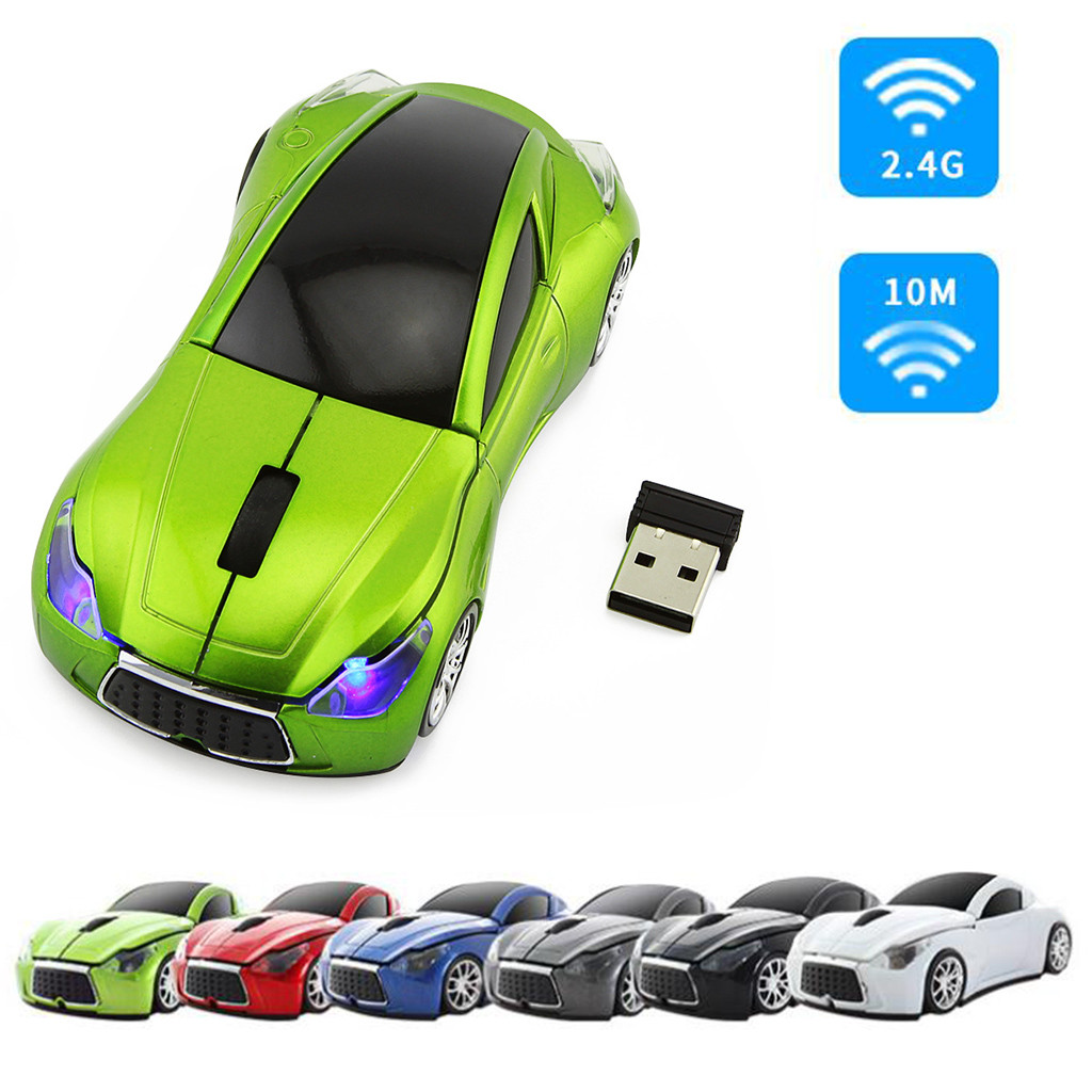 2.4ghz 1200DPI Wireless Optical Mouse USB Rolling Car Model Mouse For Tablet PC
