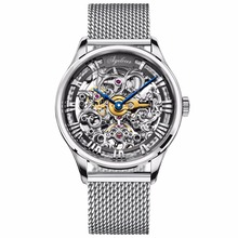 цена на Agelocer Top Brand Luxury Fashion Watches Skeleton Dial Stainless Steel Automatic Watches Hollow Out Watches for Men 5401