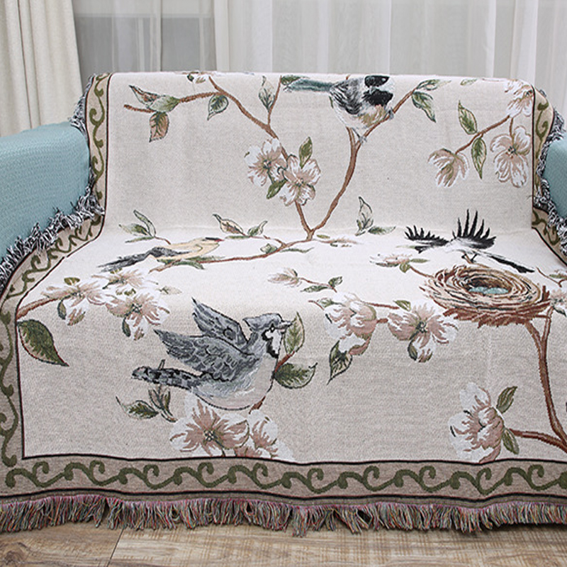 Detail Feedback Questions about Flowers Birds Cotton Blanket Knitted Multi  function Carpet Beds Table Cloth Sofa Blankets Knitted Towel Beach Cover up  Bed ... 10f296ad8