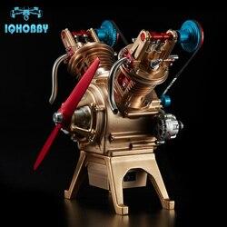 Skala V2 Typ Konvexen Halterungen Full Metal Montiert Benzinmotor Modellbau Kits für Erforschung Industrie Studium/Geschenk