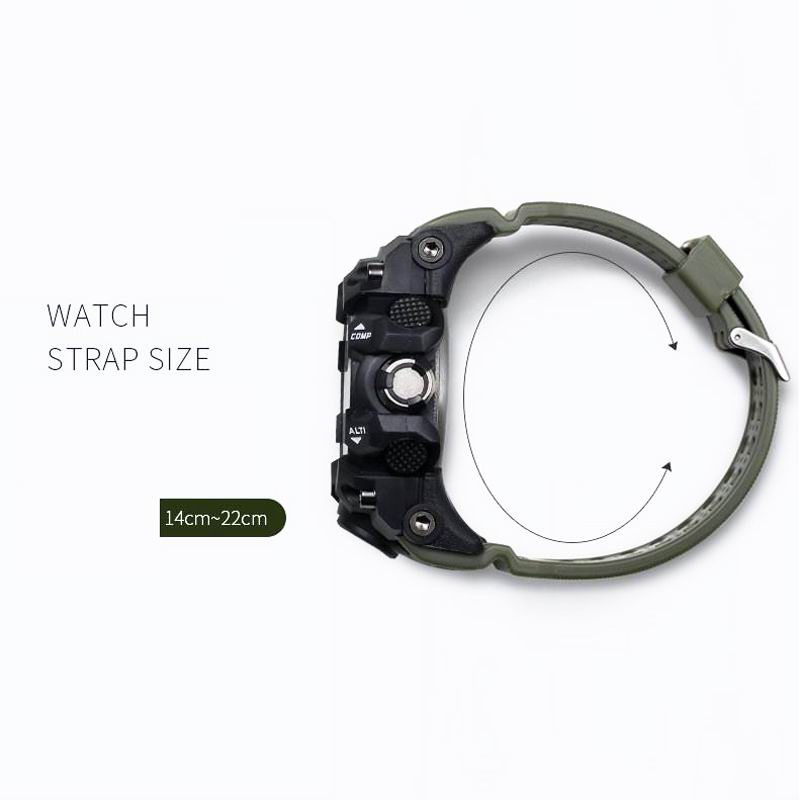 Drop Shipping SMAEL Brand Dual Display Wristwatches Military Quartz Clock Male Gift LED Digital Men 39 s Sports Watch for Men Hours in Sports Watches from Watches