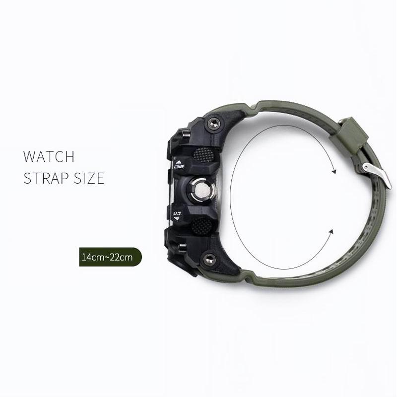 SMAEL Brand Dual Display käekellad Sõjaväehäire Quartz Kell Mees - Meeste käekellad - Foto 3