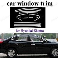 Car Styling Aço Inoxidável Janela Da Guarnição Decoração Tira Para H-yundai Elantra Acessórios