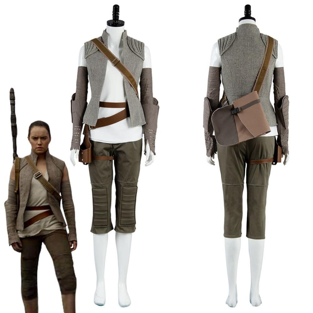 Star Wars 8 La Dernière Jedi Rey Costume Cosplay Battleframe Halloween Carnaval Costumes pour Adulte Femmes