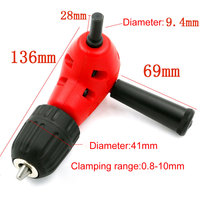 Hot Convenience Angle Adaptor 90 DEGREE Right Angle Drill Attachment 3 8 Chuck Plastic Head Home