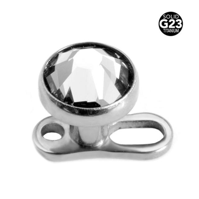 10 Pieces Titanium Crystal Dermal Anchors