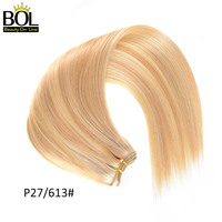 Peruvian Straight Hair P27/613 Blonde Human Hair Extensions Two Tone Ombre Hair Weave Bundles 1/3/4 Bundles BOL Remy Hair