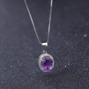 Image 4 - GEMS BALLET collar con colgante de piedras preciosas de amatista Natural para mujer, de plata de ley 925, joyería fina de piedra de nacimiento, 1.79Ct, boda