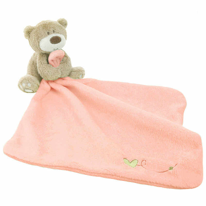 Infant Baby Nursery Toddler Soft Smooth Bath Cartoon Bear Toy Blanket Towel Baby Care Soft Towels with Bear Toy W20