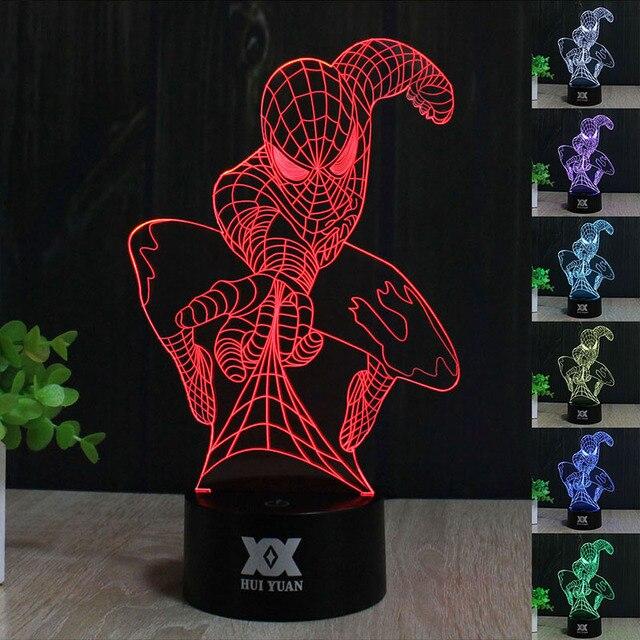 HY No.211-225 Luces de Control Remoto 7 Colores Que Cambian Noche 3D de Escritorio LED Lámpara de Mesa Decoración Del Hogar Para Los Regalos