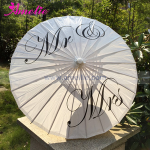 Image 1 - Free Shipping Wedding Personalized Custom Mr and Mrs Parasol Printed Bride Paper Wedding Umbrella Photo Prop Ceremony