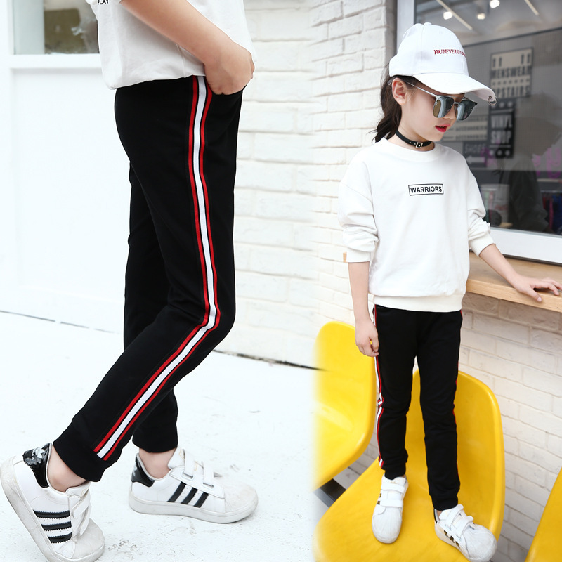 US $15.12 28% OFF|Autumn Baby Girls Soft Pants Kids Child Casual Harem Pant  Boy Girl Pants Strip Trousers for 4 13Y Girls Cotton Children Trousers-in  ...