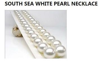 noble women gift 17INCH GOLD CLASP HHUGE 11-12MM AAAA+ SOUTH SEA WHITE PEARL NECKLACE