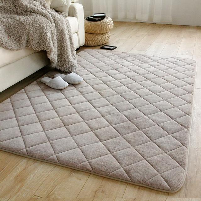 ultra spessa velluto corallo del panno morbido tappeto divano camera ...