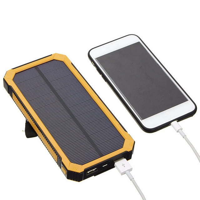 best website 57b1b 46e4a Universal Portable 2600mAh 8000mAh Waterproof Solar Panel Charger Dual USB  External Battery Power Bank Charging For Smartphone-in Power Bank from ...