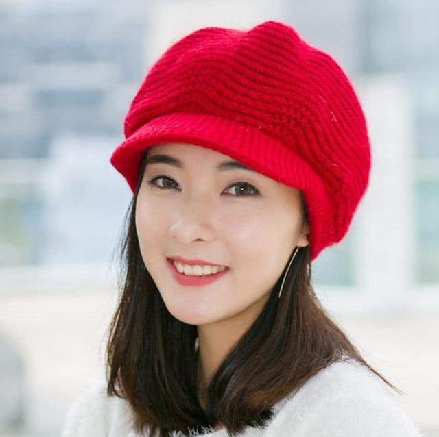 ffba0f93341 New Develop 2017 Top Fashion Women Ladies Beret Winter Warm Baggy Beanie  Knit Crochet Hat Slouch Ski Cap gorros mujer invierno