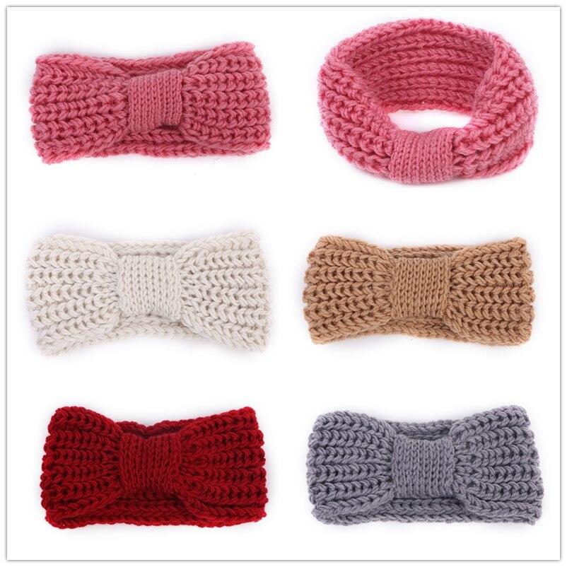 ᐂMujeres turbante ganchillo punto headwrap de la venda del pelo del ...