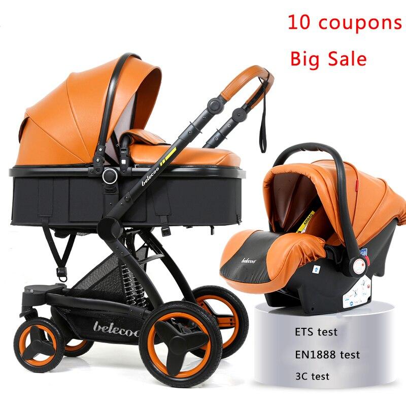 Carrinho de Bebê De luxo 3 em 1 Alta Qualidade Carrinho de Bebê Do Pram Do Bebê Pode Se Sentar Pode Mentir