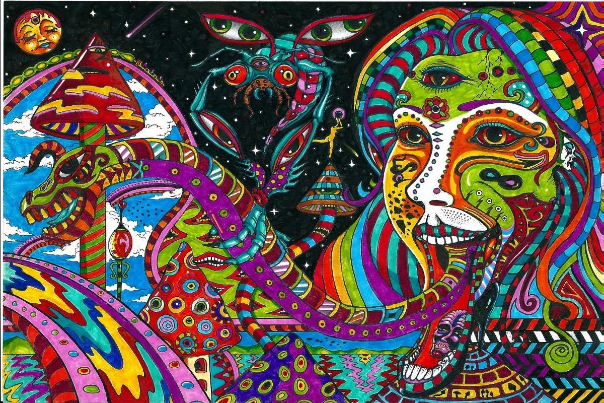 Color printing tamu - Kanvas Kain Printing Wall Poster Godess Wanita Pys36 Mitos Naga Warna Abstrak Karya Seni Dekorasi Dinding