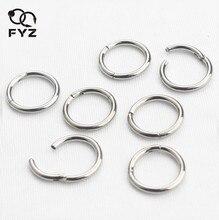 16G G23 tytanowe pierścienie nosowe kolczyki Faux przegrody pierścienie zawiasowe zatrzaskowe segmenty pierścienie na sutki Piercing nos biżuteria