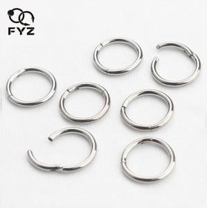 Image 1 - 16g g23 titânio nariz anéis piercings falso septo anéis articulados clicker segmento mamilo anéis piercing nariz jóias