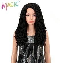 MAGIC Hair 22Inch Synthetic Wigs For Black Women Crochet Braids Twist Jumbo Dread Faux Locs Hairstyle Long Afro Brown