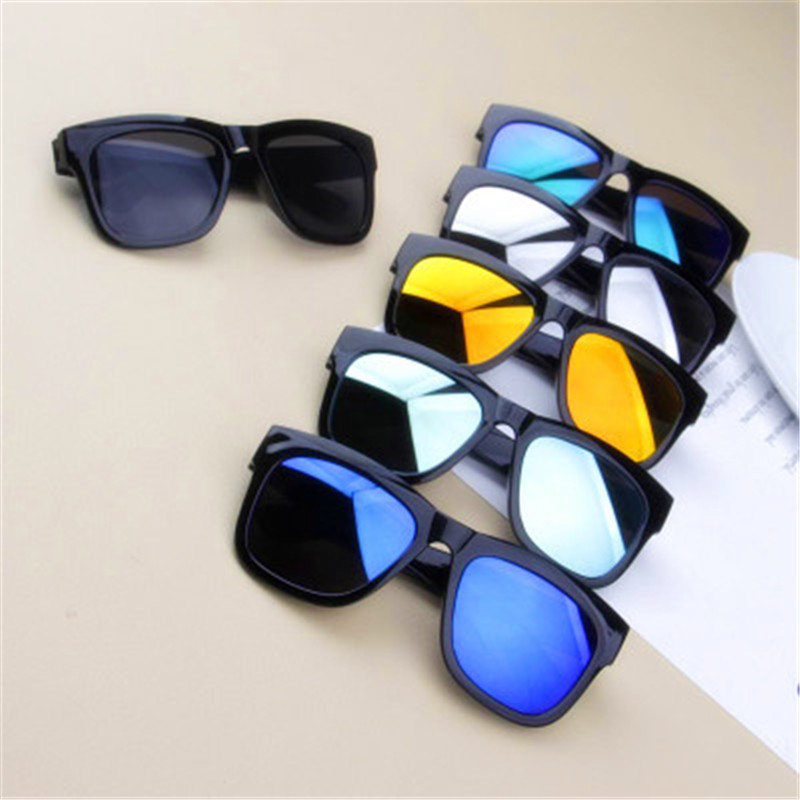 Children Sunglasses 2018 New Fashion Square Kids Sunglasses Boy Girl Square Goggles Baby Travel Glasses 6 Colors Optional UV400(China)