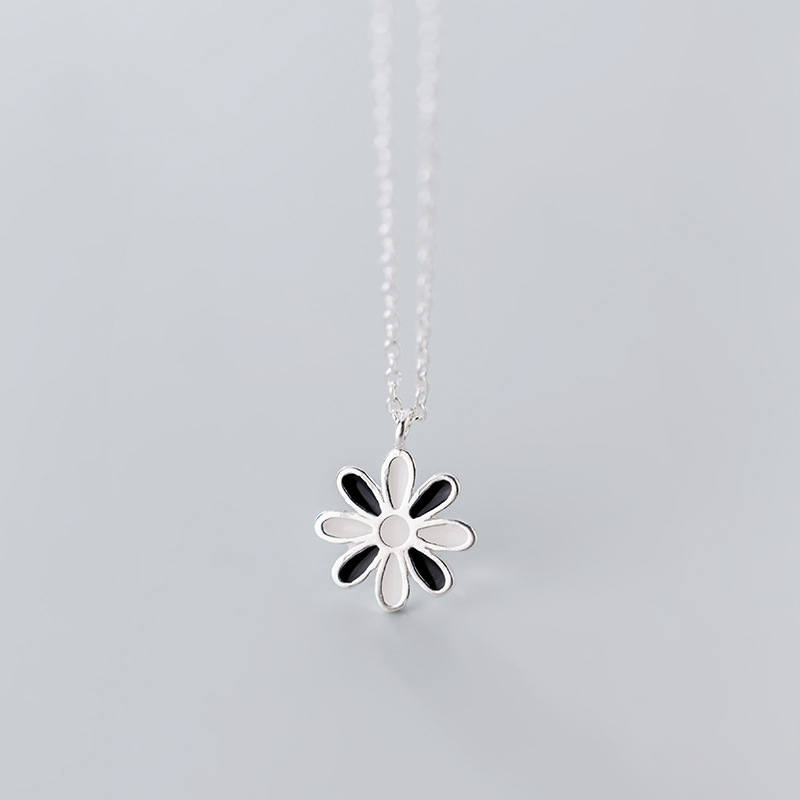 CHN28 summer jewelry hot sell product for women flower necklace 925 silver hot sell product free