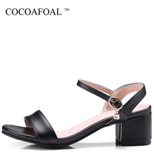 10c1b883811a COCOAFOAL Women Crystal Cheap Sandals Fashion Shallow Black Beige White  Heel Height Shoes Sexy Plus Size