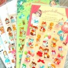20packs/Lot Korea Kawaii Girl series Transparent sticker hot sell decoration Diary stickers office school supplies wholesale