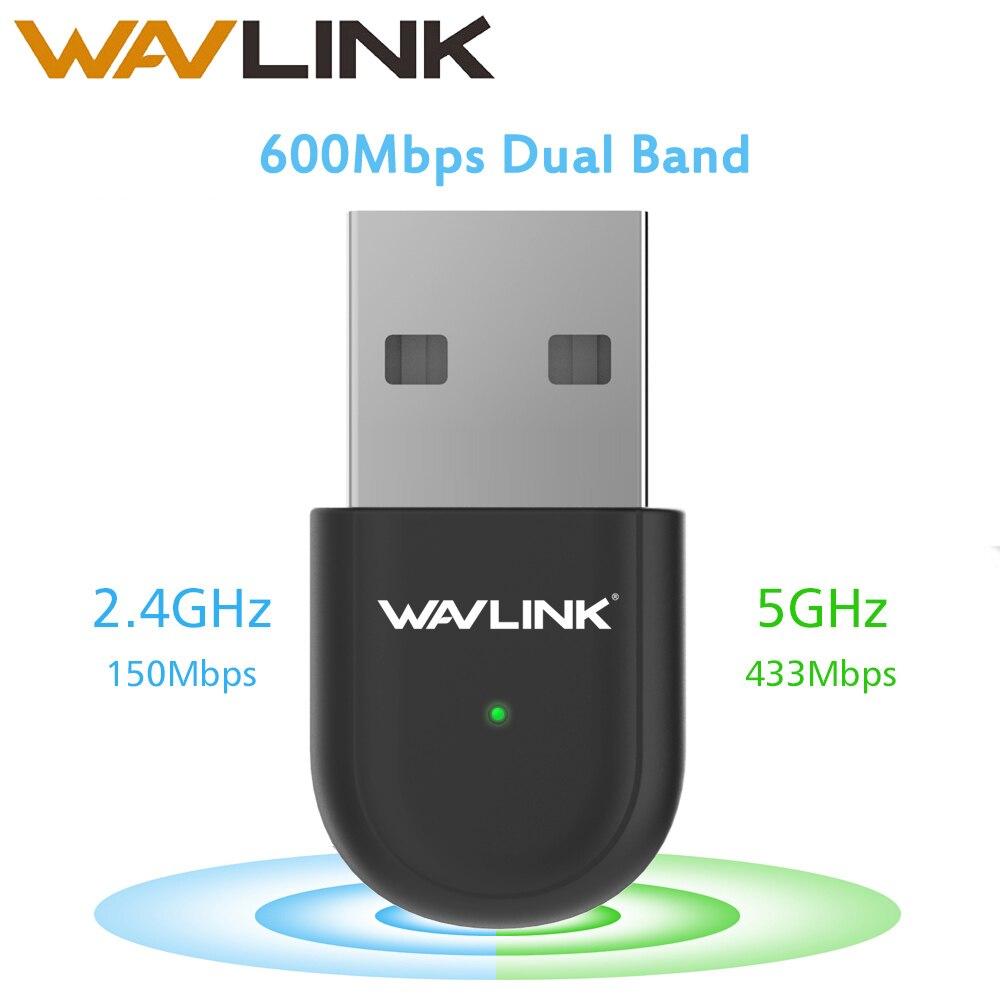 Wavlink Mini USB WiFi Adapter 600Mbps Wireless Network Card Wifi USB WPS IEEE802.11b/g/n For Windows XP/Vista/7/8/8.1/10 MAC OS