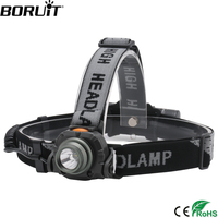 BORUiT 1000lumens XPE LED פנס עם IR חיישן בקרת פנס דיג ציד ראש לפיד על ידי 18650 סוללה פנס-בפנסי חזית מתוך פנסים ותאורה באתר