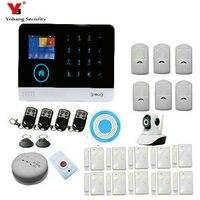 Yobangsecurity WI FI Защита от взлома видео ip камеры Беспроводной GSM дом безопасности Детская безопасность Системы Беспроводной сирена дыма пожарна