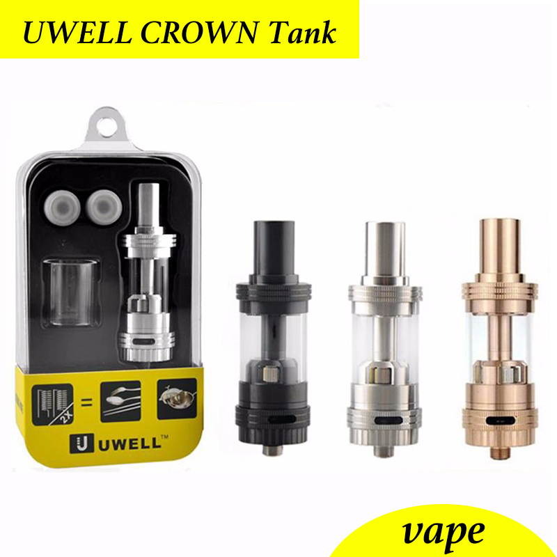 Uwell Crown Tank electronic cigarette atomizer/vaporizer/clearomizer RTA RBA  Temperature control Duall coils 0.2ohm 0.5ohm