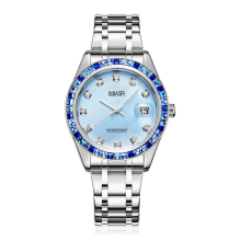 Women's Quartz Watches Reloj Mujer Luxury Stainless Steel Calendar Waterproof Watch for Woman Crystal Clock Relojes Mujer Moda