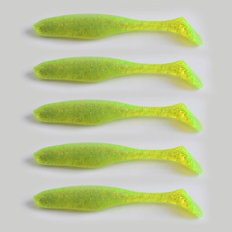 5Pcs/lot 5.2g/8.5cm Handmade Soft Bait Fish Fishing Lure Paddle Tail Silicone Bass Minnow Bait Swimbaits Plastic Lure Pasca fishing soft lure screw t tails 75mm 2g long tail fish bait lot 3 pieces