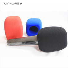 Linhuipad Broadcast Foam Microphone Windscreen Sponge Mic Cover Windshields for Handheld Interview microphone 3 colors