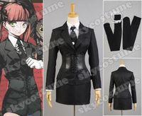 Arcana famiglia Felicita Uniforme Cosplay Costume Nero Jet Vestito Shirt + Dress + Jacket + Corsetto + Guanti + Tie + calze Set Completo