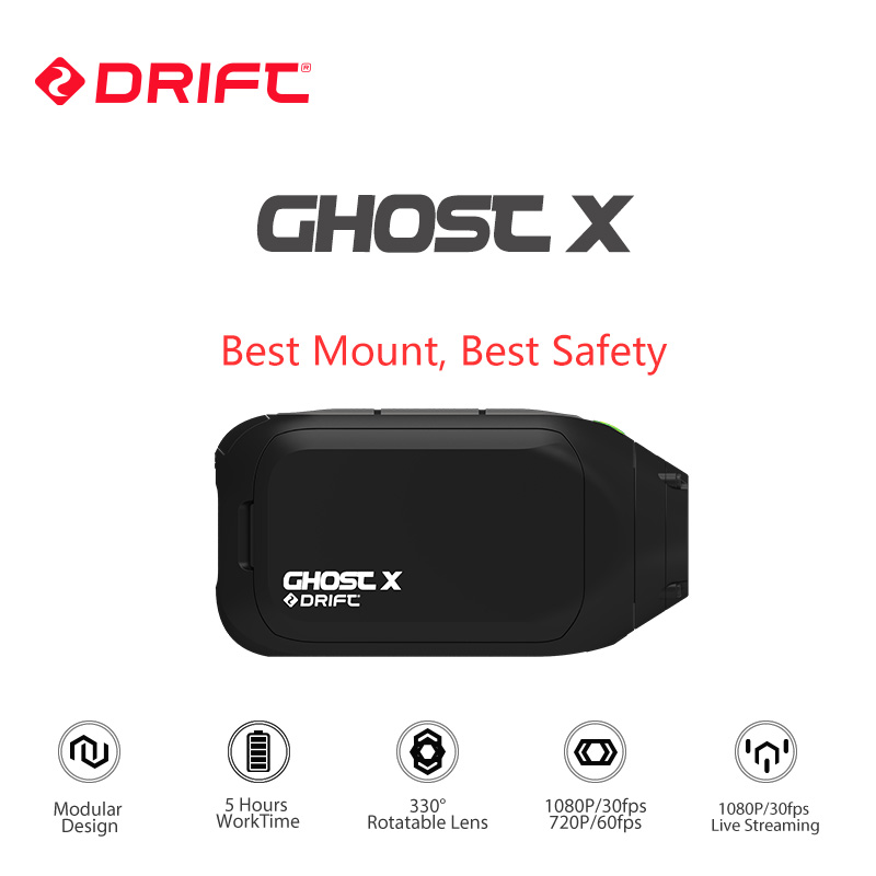New Arrival Drift Ghost X Action Sports Camera 1080P Motorcycle Mountain Bike Bicycle Helmet Cam 8 Hours Working Time with WiFi